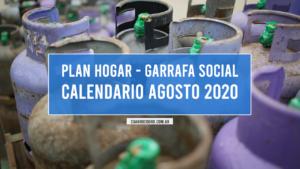 Calendario Garrafa Social Agosto 2020