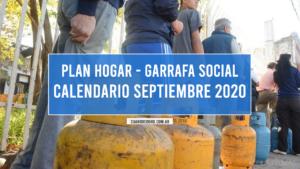 Calendario Garrafa Social Septiembre 2020