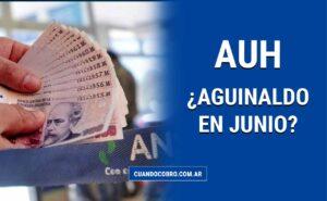 aguinaldo en Junio AUH