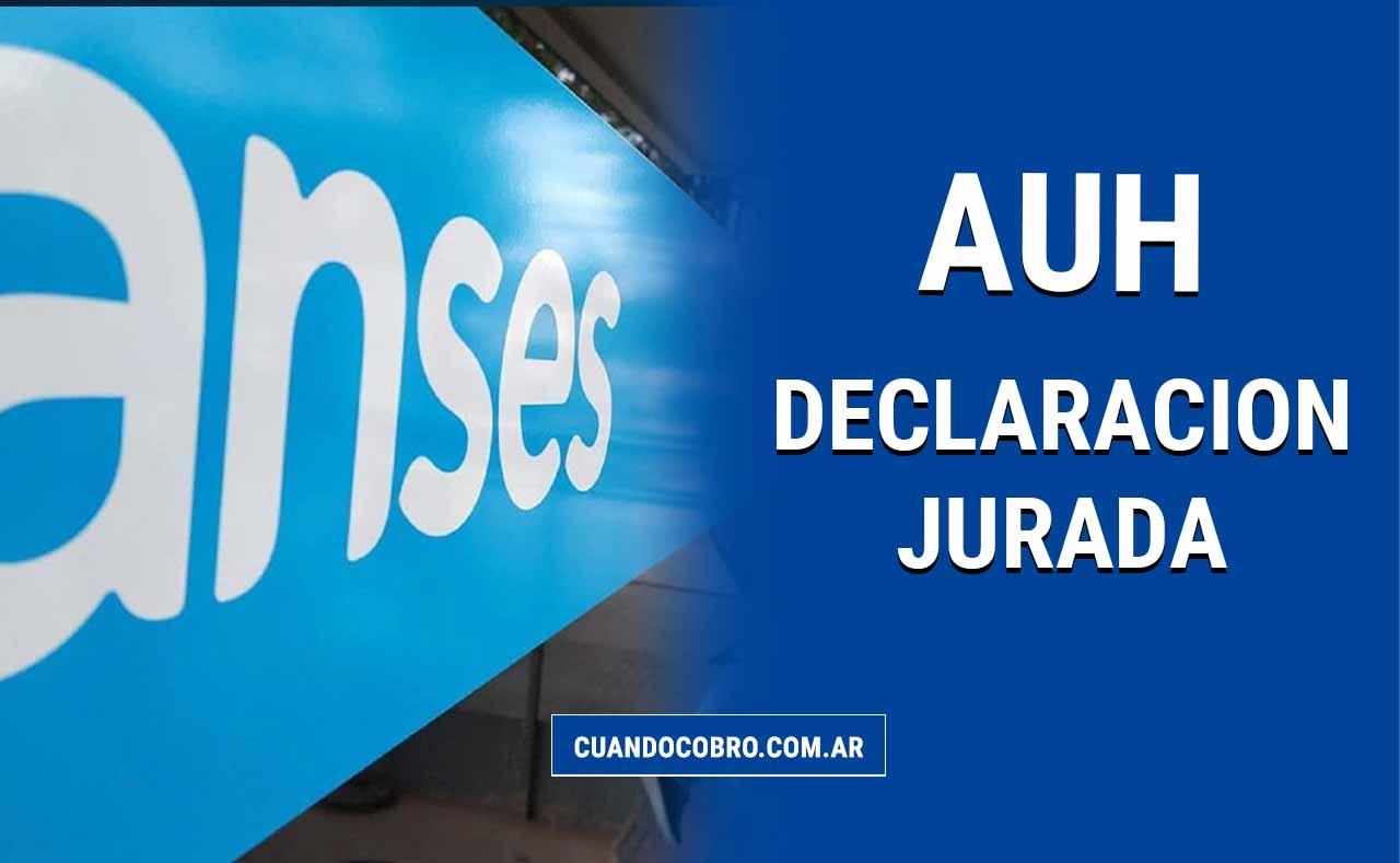 declaracion jurada auh 2021